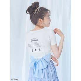 プリンセスバックリボンTシャツ (ブルー)