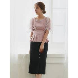 リボンタイトスカート (ブラック)