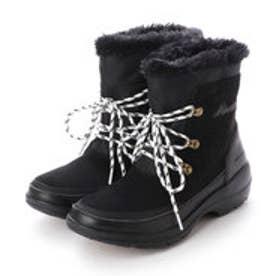 カウスエードレースアップ防水加工ブーツ (ブラックコンビ)