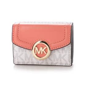 三つ折り財布 (ピンク系)