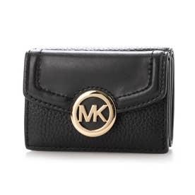 三つ折り財布 (ブラック)
