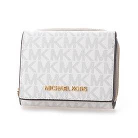 三つ折り財布 (ホワイト系)