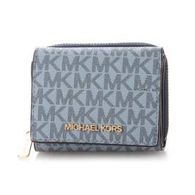 三つ折り財布 (ブルー系)