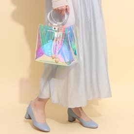 リングハンドルクリア巾着バッグ<インナー巾着&ショルダーストラップ付き>(289722) (オーロラ)