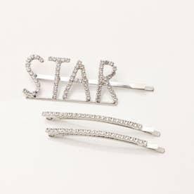 ヘアピンセット【パール・ラインストーン】<選べるデザイン>(269155) (【D】< ロゴヘアピン > STAR)