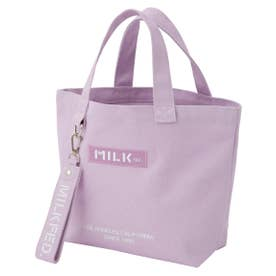 BAR AND UNDER LOGO LUNCH TOTE (ライトパープル)