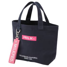 BAR AND UNDER LOGO LUNCH TOTE (ネイビー)