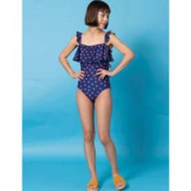 ONE-PIECEswimsuit/背中あきワンピース水着 (NAVY)【返品不可商品】
