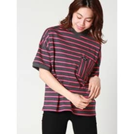 MULTISTRIPEDPOCKETTOP (CHARCOAL)