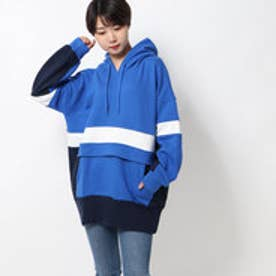 SPORTY HOODED TOP (BLUE)