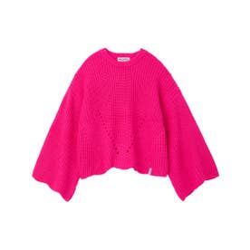 SCALLOP KNIT TOP (ピンク)