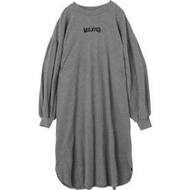 GATHERED SLEEVE DRESS (アッシュ)