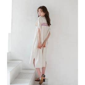 RAINBOW LOGO DRESS (OFF WHITE)