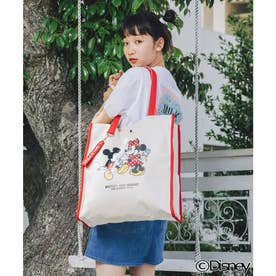 【Disney】MICKEY AND MINNIE / TOTE (RED)
