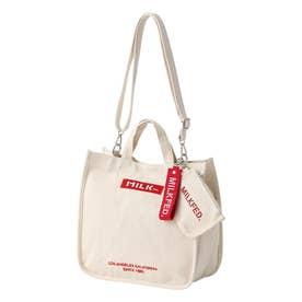 EMBROIDERED BAR SHOULDER BAG W/STRAP (RED)