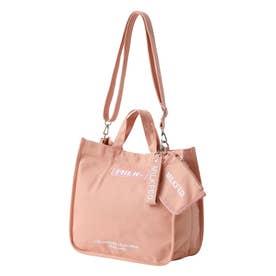 EMBROIDERED BAR SHOULDER BAG W/STRAP (PINK)