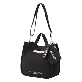 EMBROIDERED BAR SHOULDER BAG W/STRAP (LtPINK)