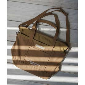 EMBROIDERED BAR 2WAY TOTE BAG (BEIGE)