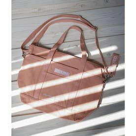 EMBROIDERED BAR 2WAY TOTE BAG (LtPINK)