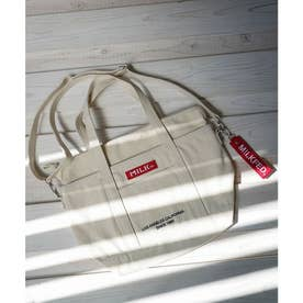 EMBROIDERED BAR 2WAY TOTE BAG (A)