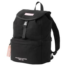 EMBROIDERED BAR CANVAS FLAP BACKPACK (LtPURPLE)