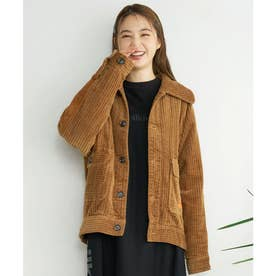 CORDUROY QUILTED JACKET (BROWN)