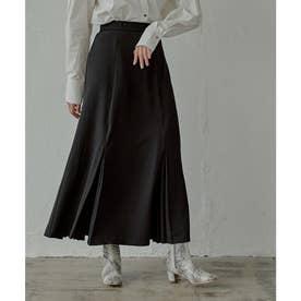 マチプリーツロングスカート (ブラック)