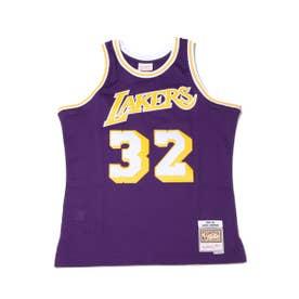 Swingman Jersey Los Angeles Lakers Road 1984-85 Magic Johnson (PURPLE)