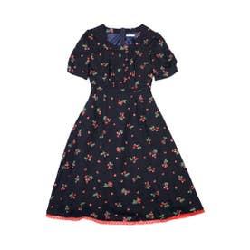 チェリーブロッサム dress (ネイビーチェリー)