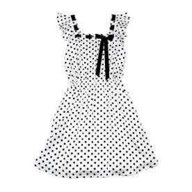 Betty dress (オフドット×ブラック)