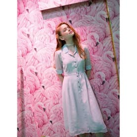 Candy girl dress (ピンク・サックスキャンディーストライプ)