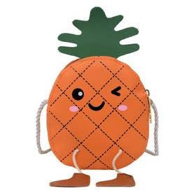 ポシェット 女の子 ベイビー 子供 キッズ 小物入れ 韓国ファッション ショルダーバッグ ミニバッグ 斜めがけバッグ 小さめ かばん (オレンジ)