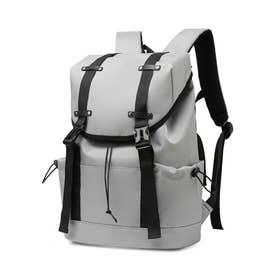 リュックサック 大容量 ユニセックス 鞄 (ライトグレー)
