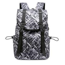 リュックサック 大容量 ユニセックス 鞄 (モザイク柄)