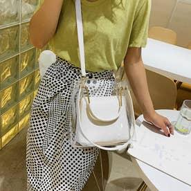 PVCバッグ 透明 トートバッグ オシャレ (ホワイト)