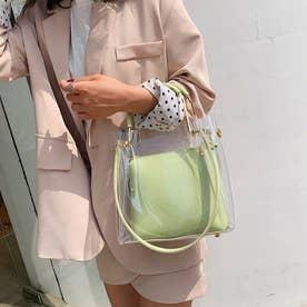 PVCバッグ 透明 トートバッグ オシャレ (ミントグリーン)