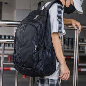 リュックサック 大容量 ユニセックス 鞄 (ブラック)