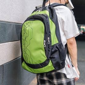 リュックサック 大容量 ユニセックス 鞄 (イエローグリーン)