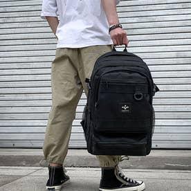リュックサック 大容量 男女兼用 バックパック 韓国 ファッション 大きめ デイパック アウトドア シンプル カジュアル バッグ 旅行 (ブラック)