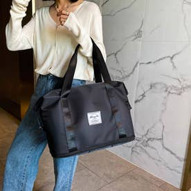 キャリーオンバッグ トラベルバッグ レディース 大容量 旅行バッグ はっ水加工 ボストンバッグ 男女兼用 (ブラック)