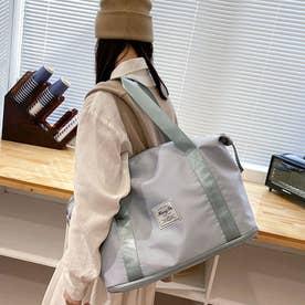 キャリーオンバッグ トラベルバッグ レディース 大容量 旅行バッグ はっ水加工 ボストンバッグ 男女兼用 (グレー)