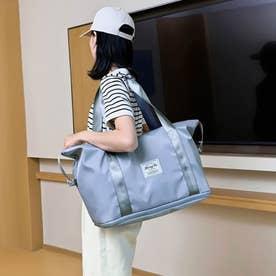 キャリーオンバッグ トラベルバッグ レディース 大容量 旅行バッグ はっ水加工 ボストンバッグ 男女兼用 (ブルー)