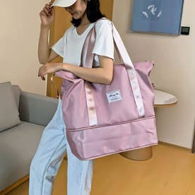 キャリーオンバッグ トラベルバッグ レディース 大容量 旅行バッグ はっ水加工 ボストンバッグ 男女兼用 (ピンク)