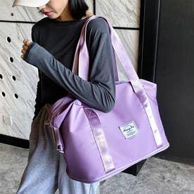 キャリーオンバッグ トラベルバッグ レディース 大容量 旅行バッグ はっ水加工 ボストンバッグ 男女兼用 (ラベンダー)
