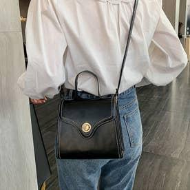 ショルダーバッグ レディース 2WAY ハンドバッグ かばん 斜めがけ 小さめ PU 可愛い ミニ鞄 おしゃれ (ブラック)