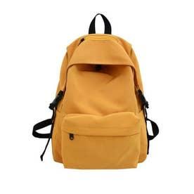 リュックサック レディースリュック A4サイズ バックパック 男女兼用 鞄 通勤 通学 バッグ (イエロー)