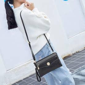 手持ちバッグ レディース 斜め掛けバッグ 財布 ショルダーバッグ 3way ハンドバッグ (ブラック)