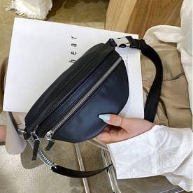 ボディバッグ レディースバッグ ウエストバッグ PUレザー かばん 斜めがけ おしゃれ 旅行バッグ (ブラック)