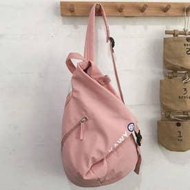 リュック レディース リュックサック ディパック バックパック A4 軽量 かばん 三角 通学 鞄 (ピンク)