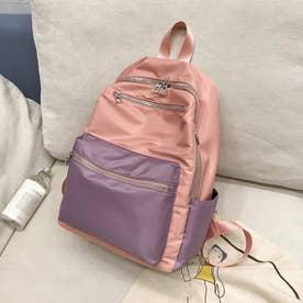 リュックサック レディース ディパック A4 大容量 バッグ 通勤 通学 鞄 マザーズバッグ おしゃれ (ピンク)